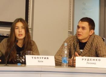 Кети Топурия и Леонид Руденко, участники группы A-Studio. Фото: Елена Захарова/Великая Эпоха