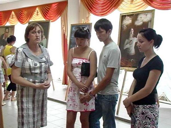 Международная художественная выставка «Истина-Доброта-Терпение — искусство, дарованное свыше» посетила солнечную Калмыкию. Фото: NTD TV