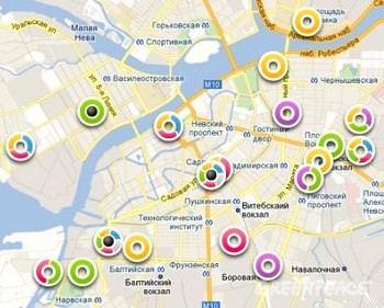 Фрагмент «мусорной» карты Петербурга с официального сайта Гринпис