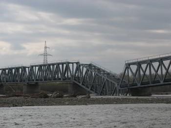 Мост через реку Абакан разрушен. Фото с официального сайта республики Хакасия