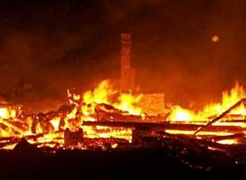 Пожар в доме престарелых в Костромской области. Фото РИА Новости / Пресс-служба МЧС России