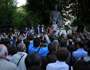 Митинг на Чистых прудах 15 мая 2012 года. Фото: NATALIA KOLESNIKOVA/AFP/GettyImages