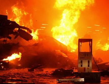 Пожар. Фото: EUGENIO GOULART/AFP/Getty Images
