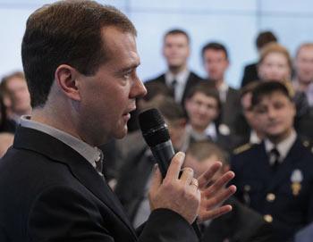 Президент РФ Дмитрий Медведев. Фото РИА Новости
