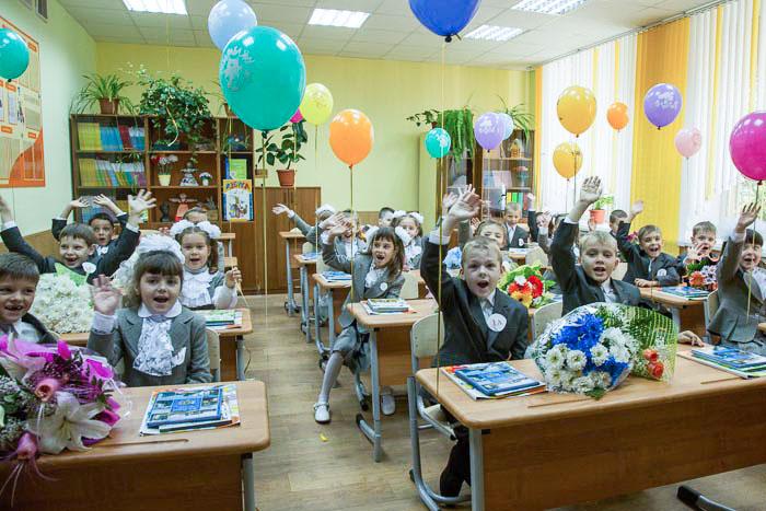 Вас приветствуют первоклашки 1А класса школы №55 г.Рязани! Фото: Сергей Лучезарный/Великая Эпоха (The Epoch Times)