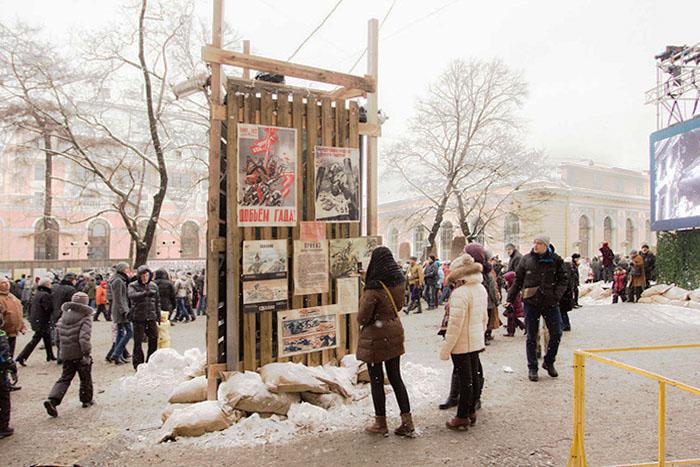 Экспозиция «Сохраните память о былом». Стенд с плакатами военной поры. Фото: Олег Луценко/Великая Эпоха (The Epoch Times)