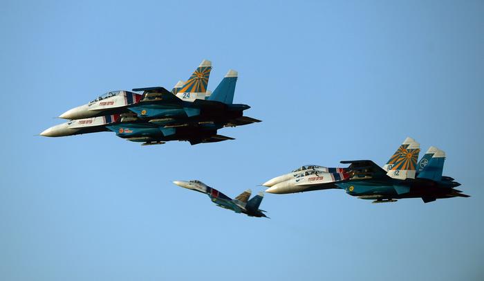 ВВС России отметили 101-ю годовщину. Фото: ATTILA KISBENEDEK/AFP/Getty Images