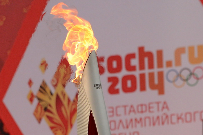 Югра ждёт прибытия Олимпийского огня. Фото: KIRILL KUDRYAVTSEV/AFP/Getty Images