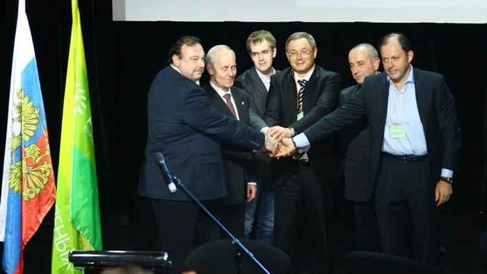 Сразу пять партий вошли в единую политическую структуру на III Внеочередном объединительном съезде «Альянса зелёных — Народной партии» 25 января в Москве. Фото: Ульяна Ким/Великая Эпоха (The Epoch Times)