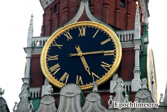 Кремлёвские часы. Фото: Юлия Цигун/Великая Эпоха (The Epoch Times)