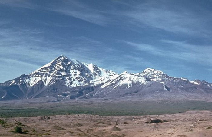 Вулкан Шивелуч на Камчатке. Фото: Dan Miller, USGS/Commons.wikimedia.org