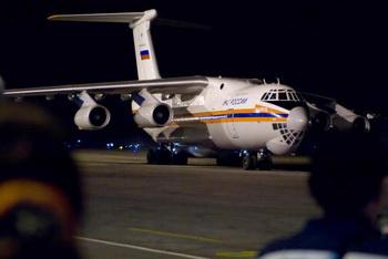 Самолёт «Ил-76» МЧС РФ доставил гуманитарный груз в Приамурье, где девять районов пострадали от паводка. Фото: ADALBERTO ROQUE/AFP/Getty Images