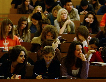 В Томске число студентов уменьшается. Фото: NATALIA KOLESNIKOVA/AFP/Getty Images
