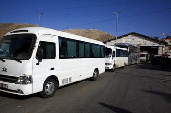 МИД России на автобусах вывозит российских граждан из Сирии. Фото: AFP/Getty Images