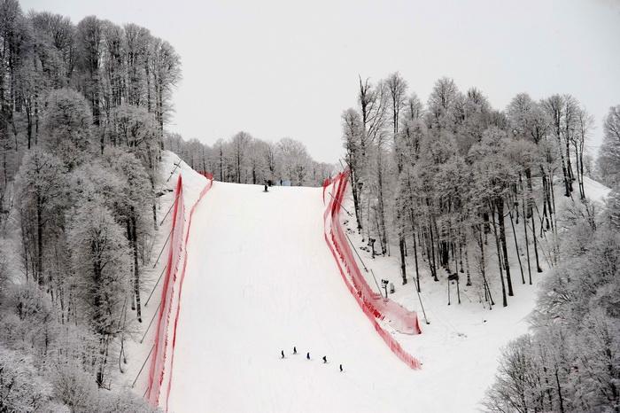 На сочинском горнолыжном курорте «Роза-Хутор» открылся сезон катания. Фото: OLIVIER MORIN/AFP/Getty Images