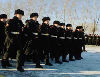Пресс-служба Министерства обороны РФ по ВМФ проинформировала об открытии в Подмосковье кадетского класса. Фото: Oleg Nikishin/Getty Images