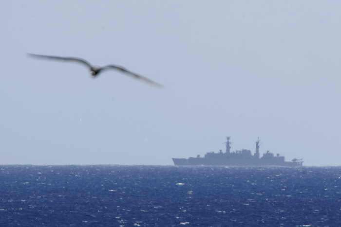 Межфлотская группировка ВМФ начала поход в Атлантический океан. Фото: ROBERT FRANCOIS/AFP/Getty Images