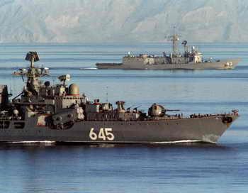 Российские корабли обеспечат безопасность доставки химоружия из Сирии к месту его ликвидации. Фото: NORBERT SCHILLER/AFP/Getty Images