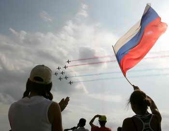На авиасалоне МАКС. Фото: MAXIM MARMUR/AFP/Getty Images