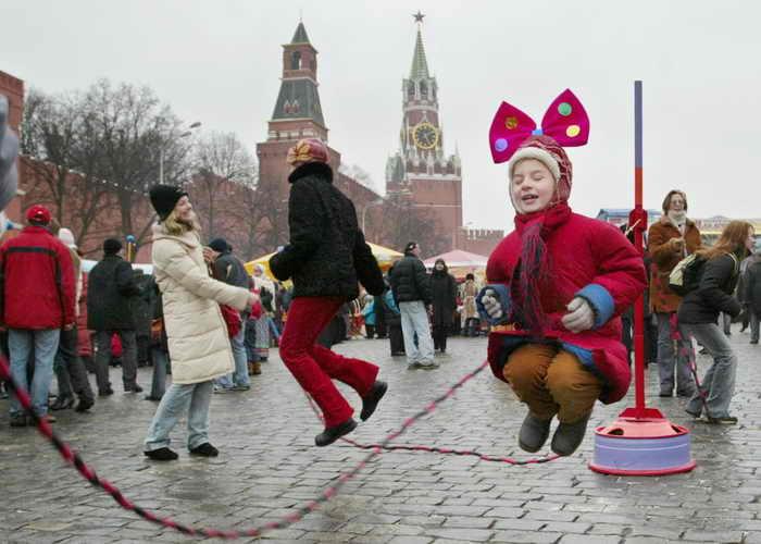 Москва Масленица. Фото: DENIS SINYAKOV/AFP/Getty Images