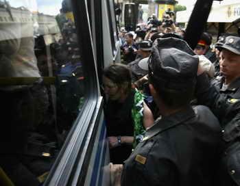 В Санкт-Петербурге 9 августа прошла несанкционированная акция против этнопреступности. Поводом для её проведения послужило убийство 23-летнего жителя Санкт-Петербурга. Фото: Jeff J Mitchell/Getty Images