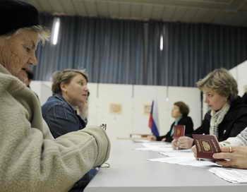 Выборы. На избирательном участке. Фото: DAVID BUIMOVITCH/AFP/Getty Images