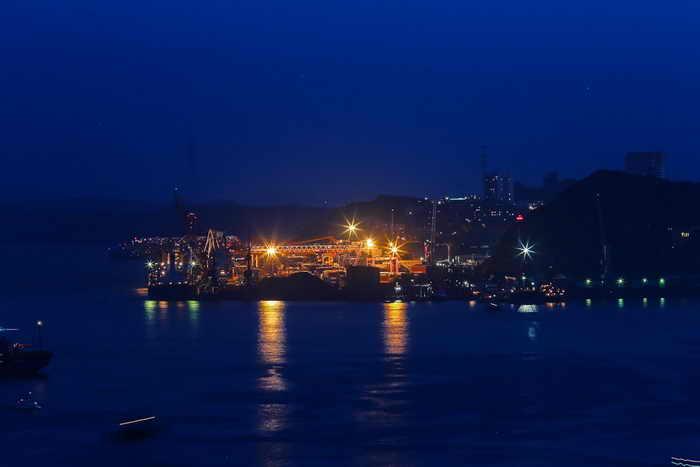 Владивосток. Бухта Золотой Рог. Фото с сайта  primorye75.ru