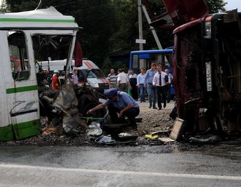 ДТП. Фото: VASILY MAXIMOV/AFP/Getty Images