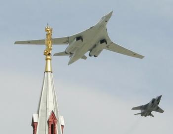 Бомбардировщик Ту-160. Фото: ALEXANDER NEMENOV/AFP/Getty Images