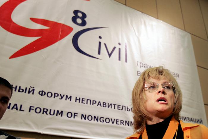 Лидер движения «Гражданское достоинство» Элла Памфилова. DENIS SINYAKOV/AFP/Getty Images