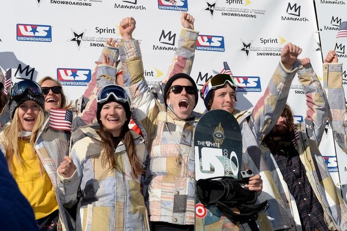 Олимпийская сборная США по горным лыжам и сноуборду  хафпайп и слоупстайл. Калифорния, 19 января, 2014 года. Фото: Harry How/Getty Images