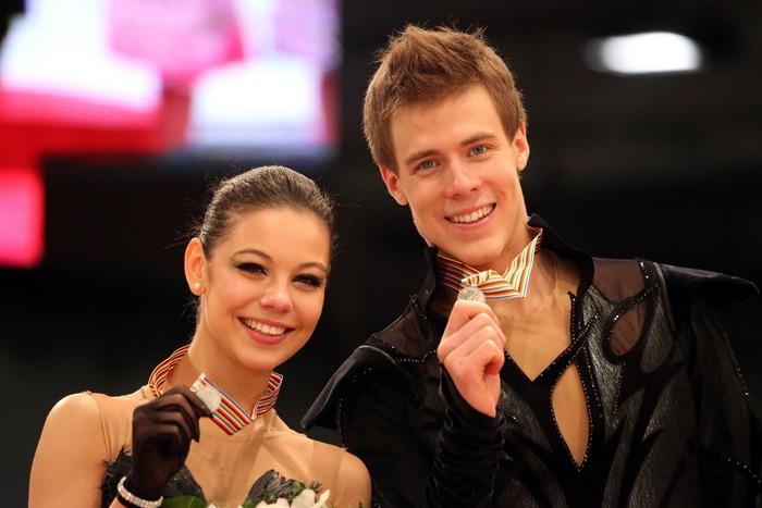 Елена Ильиных и Никита Кацалапов завоевали серебряные медали на чемпионате Европы по фигурному катанию, проходящем в Будапеште  с 15 по 19 января 2014 года .Фото: FERENC ISZA/AFP/Getty Images