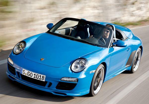 Porsche 911 Speedster - этот автомобиль будет выпущен тиражом в 356 экземпляров - в честь легендарной модели 356 Speedster, производившейся до 1965 года. Фото с сайта caredge.ru