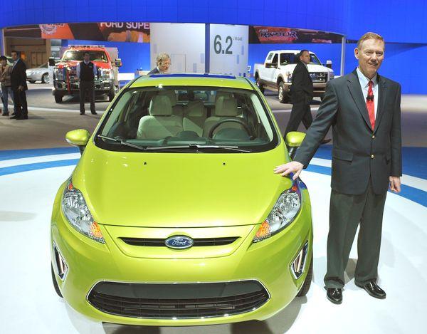 Ford Fiesta - третье место в рейтинге самых продаваемых авто  в октябре 2010 года по данным JATO Dynamics. Фото:MANDEL NGAN/AFP/Getty Images