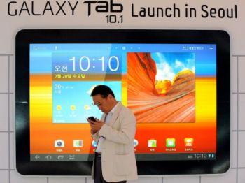 Samsung Galaxy — прорыв, обеспечивший хороший результат по всем направлениям. Фото: Park Ji-Hwan/AFP/Getty Images
