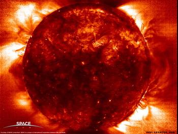 Вспышки на солнце. Фото с сайта:spacenews.ru