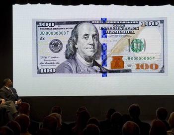 Американская 100-долларовая банкнота с изображением Бенджамина Франклина. Фото с сайта epochtimes.de