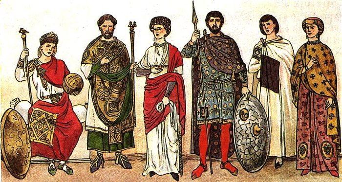 Византийские костюмы. Фото:allday.ru