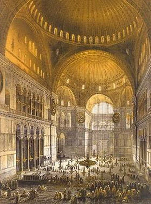 Внутренний вид храма Святой Софии. Фото:  900igr.net