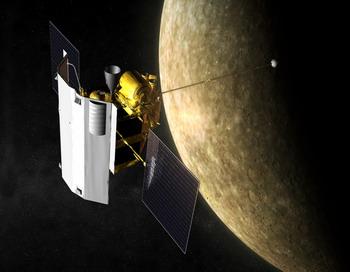Messenger  выведен на орбиту Меркурия. Фото с сайта astro.uio.no