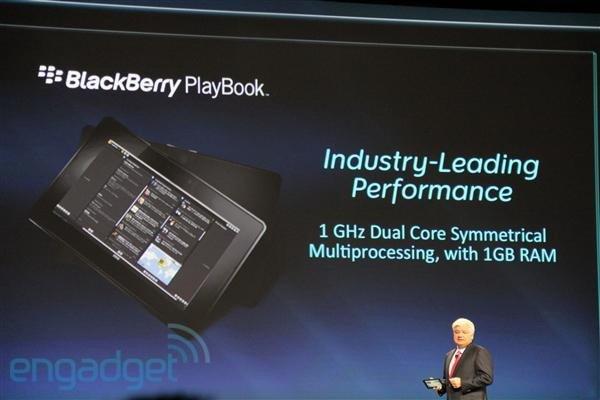 Анонс PlayBook на конференции разработчиков BlackBerry DEVCON 2010. Фото: Engadget.com