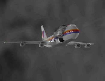 Иллюстрация рейса 811 разу после декомпрессии. Фото с сайта theepochtimes.com