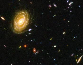 Представление видимой Вселенной, как замечено на фотомонтаже телескопа Хаббл. Наша Вселенная - только голограмма? Фото: NASA/Getty Images