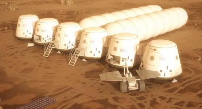 План поселения на Марсе. Фото: YouTube