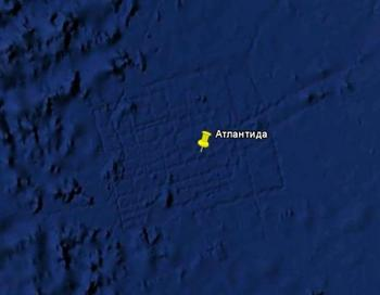 Атлантиду нашел Googl. Фото: Google Earth