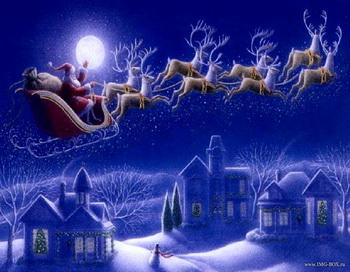 Олени Санта Клауса. Фото с сайта: img-box.ru
