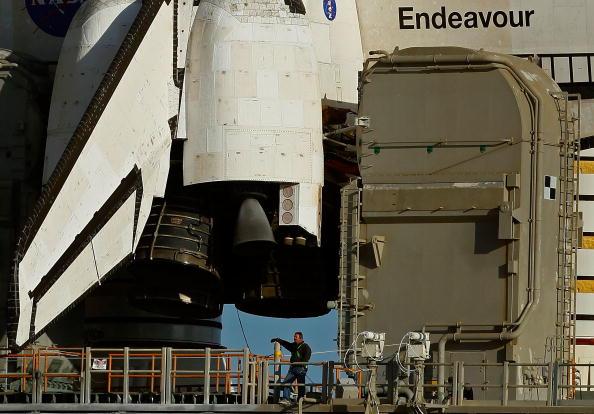 «Эндевор» готов к старту. Фото: Chip Somodevilla/Getty Images