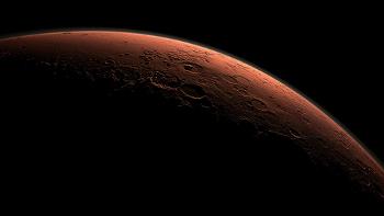 Сгенерированное компьютером изображение наступления утра на Марсе в районе кратера Гейл. Фото: NASA Goddard Space Flight Center/Flickr.com