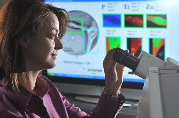 Елена Рожкова из Национальной лаборатории Аргонны исследует раковые клетки мозга. Фото: Argonne National Laboratory/Flickr.com