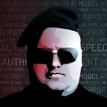 Основатель MEGAUPLOAD и борец за цифровую свободу Ким Шмиц (он же Ким Дотком, он же Кимбл, он же Ким Тим Джим Вестор). Аватар Кима в твиттере
